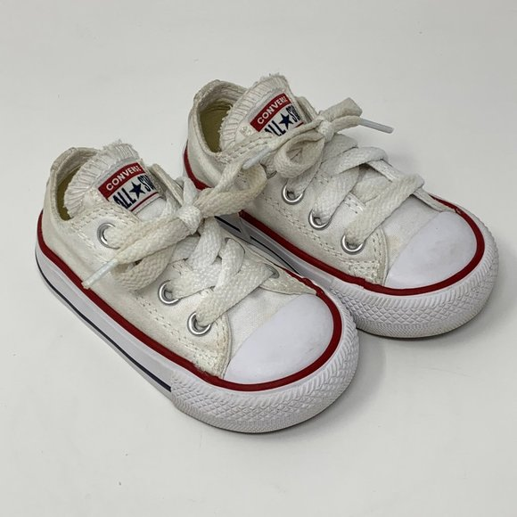 White All Star Infant Sneakers Size